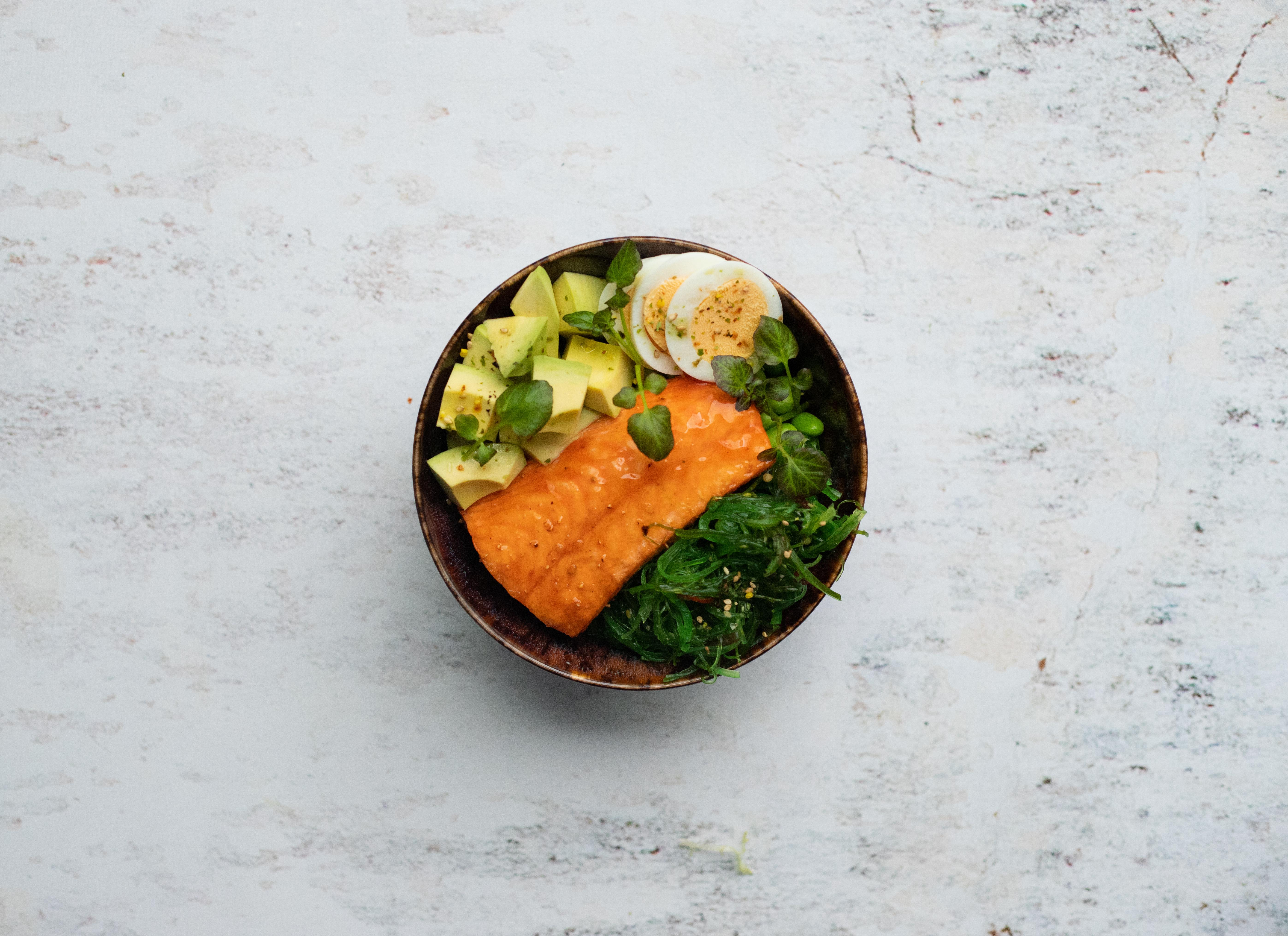 Salade quinoa zalm teriyaki