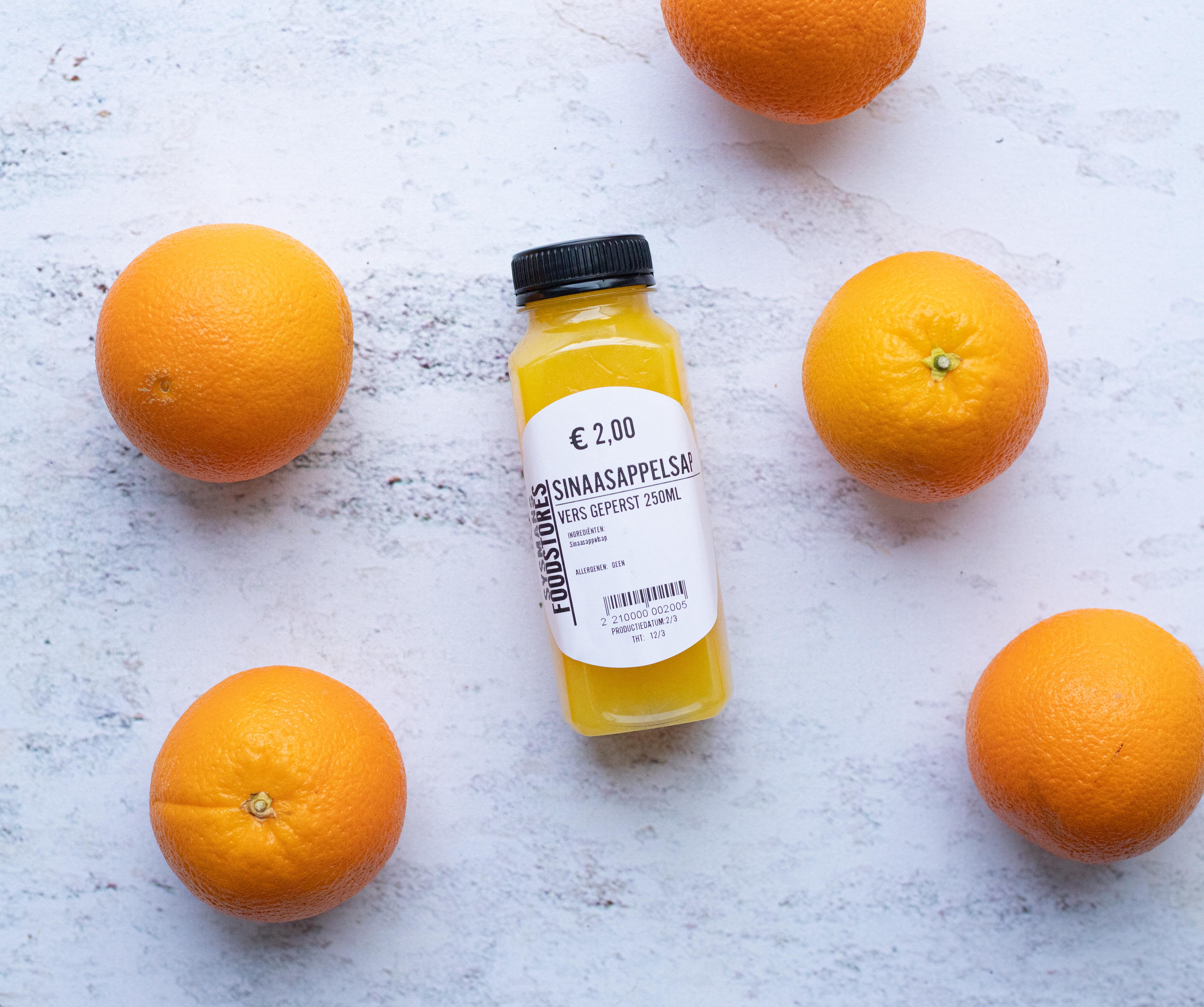 Vers geperst sinaasappelsap (250ML)