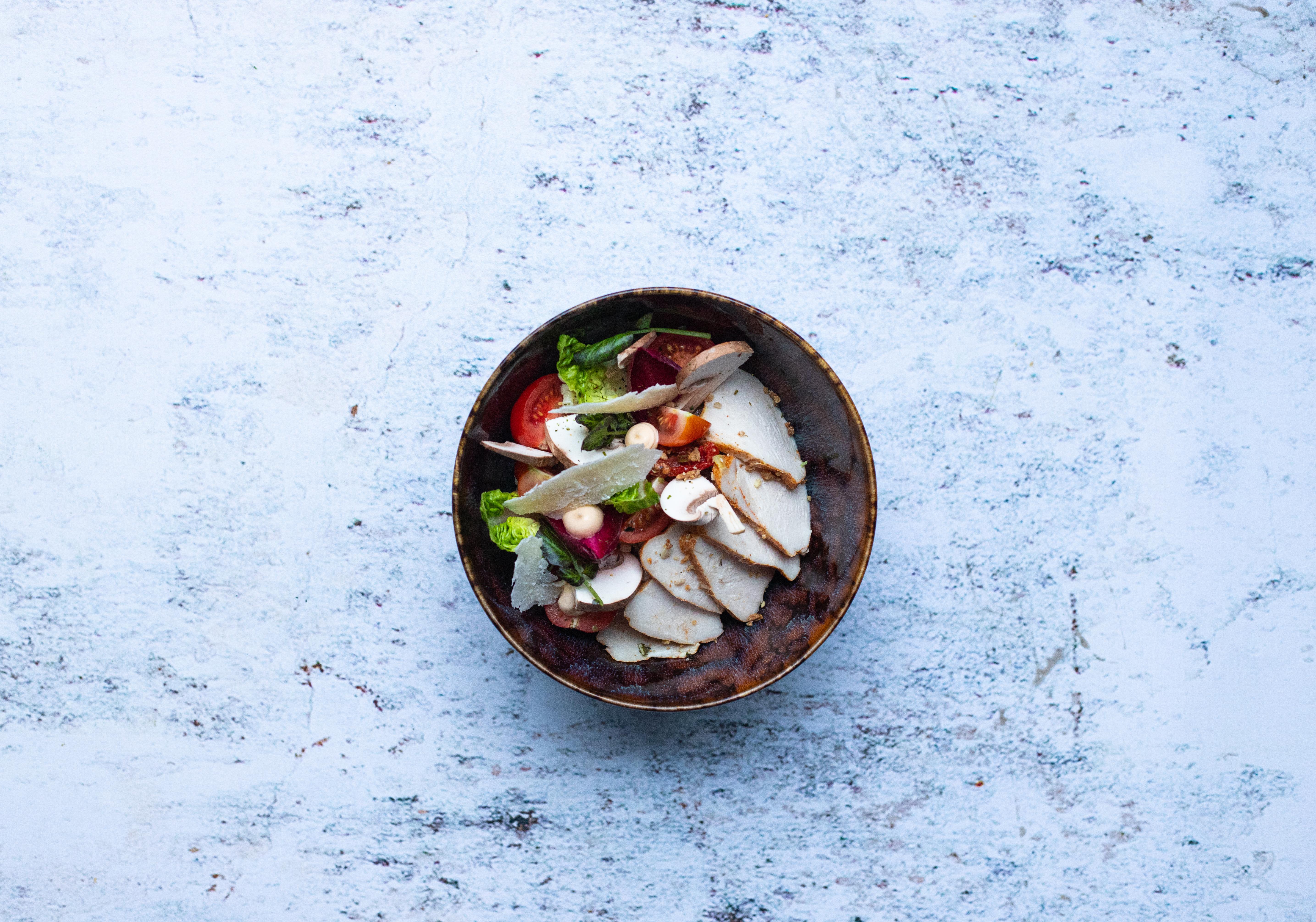Salade chicken mushroom