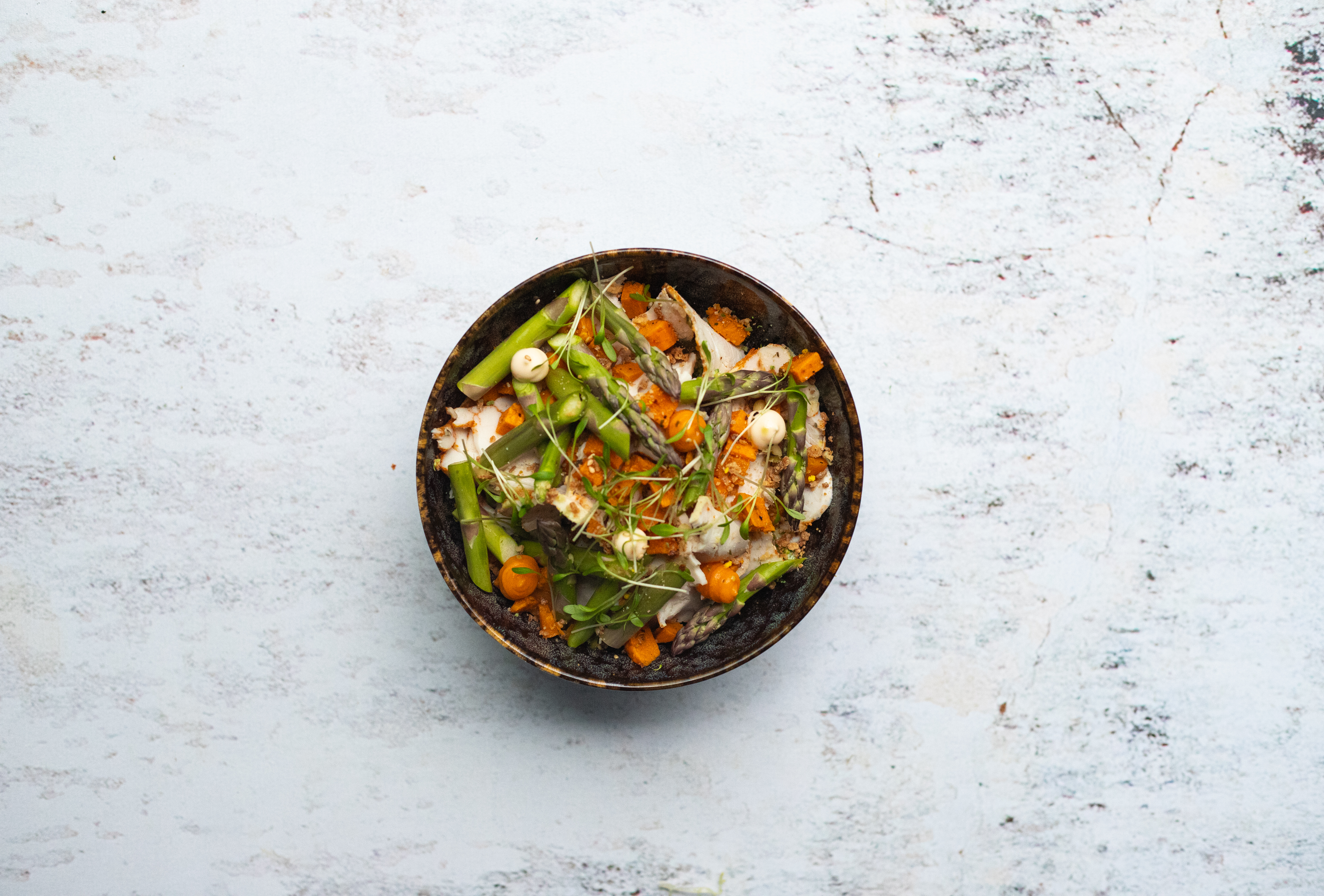 Salade kip takoyaki