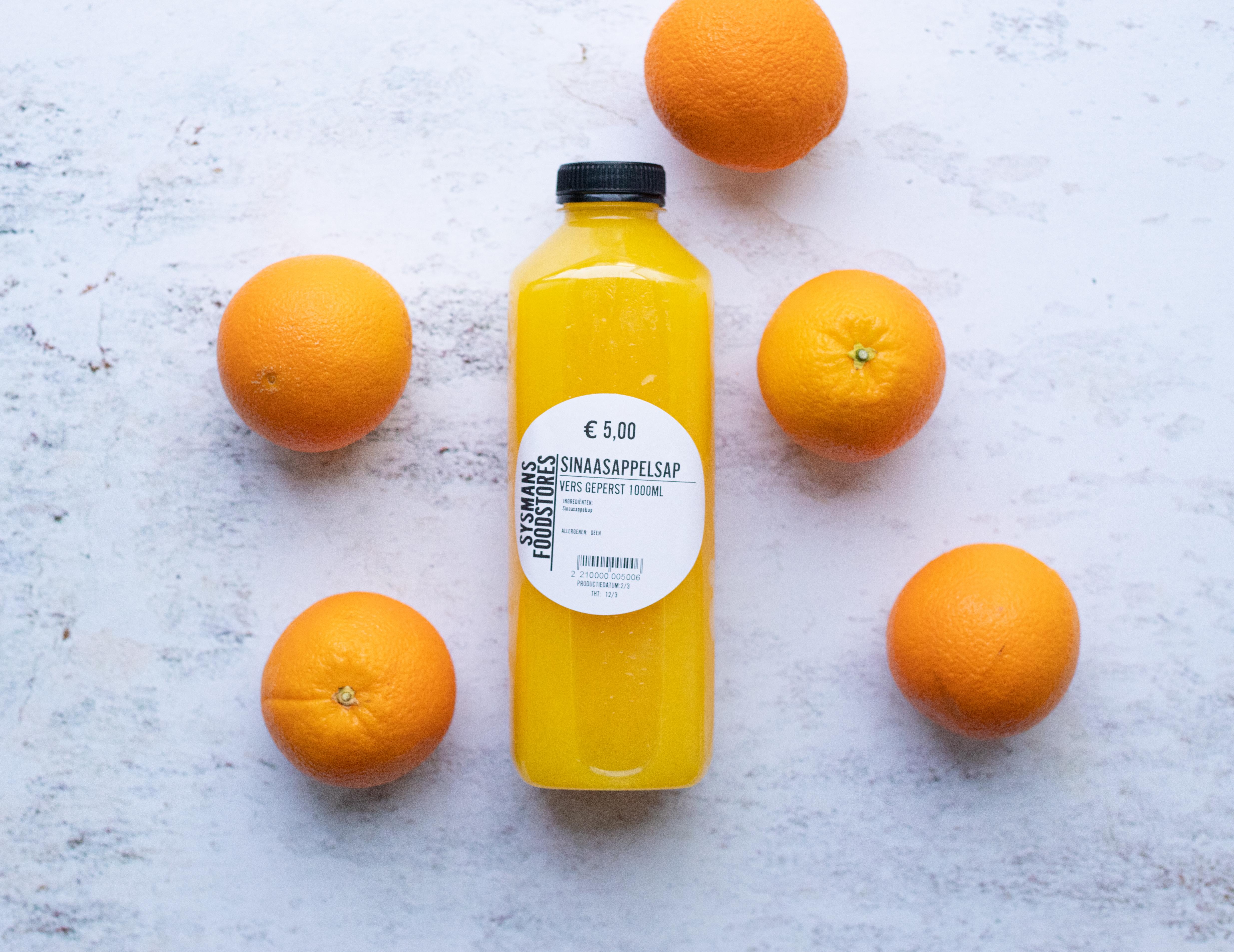 Vers geperst sinaasappelsap (1000ML)