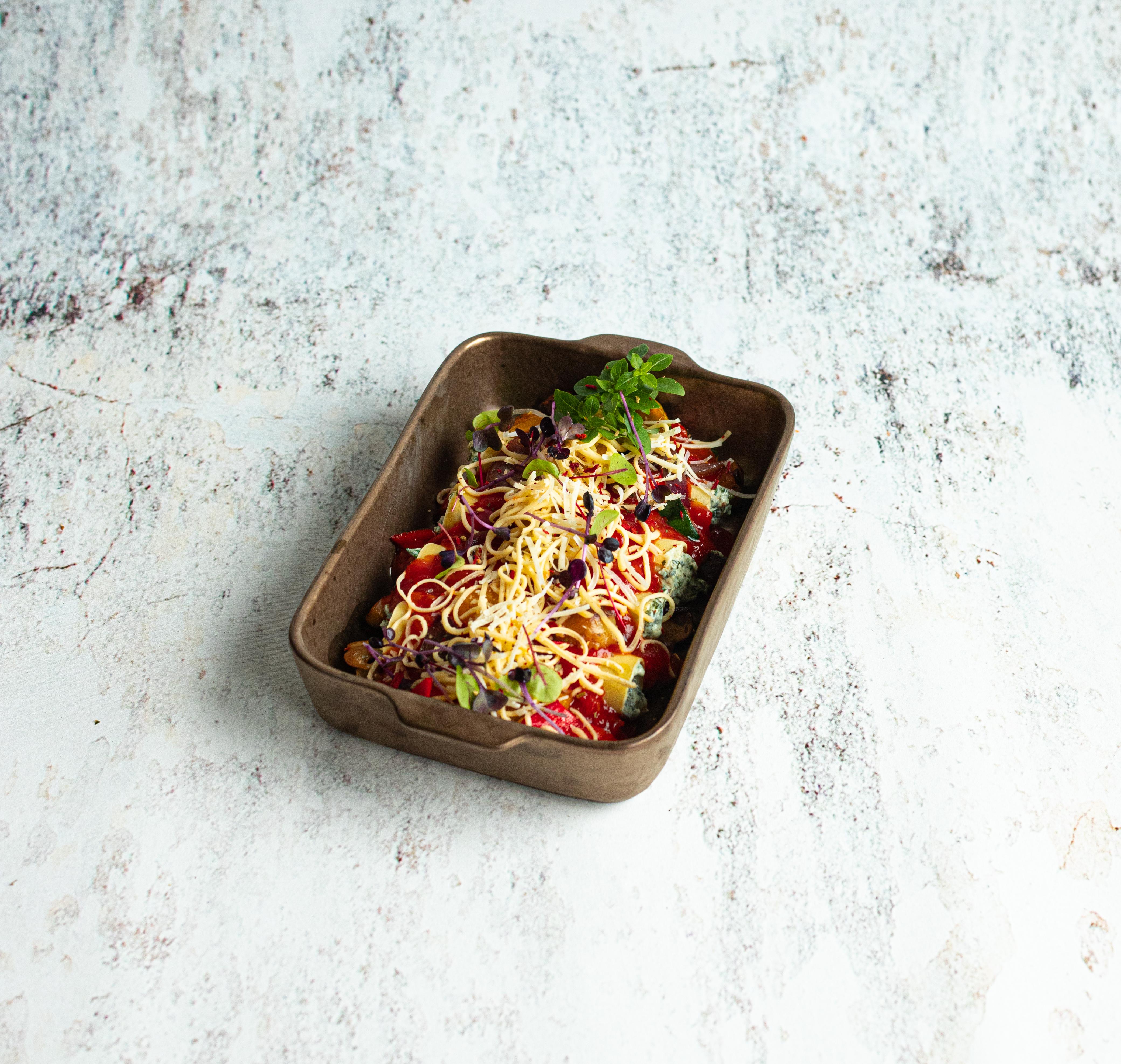 Canneloni met ricotta en spinazie