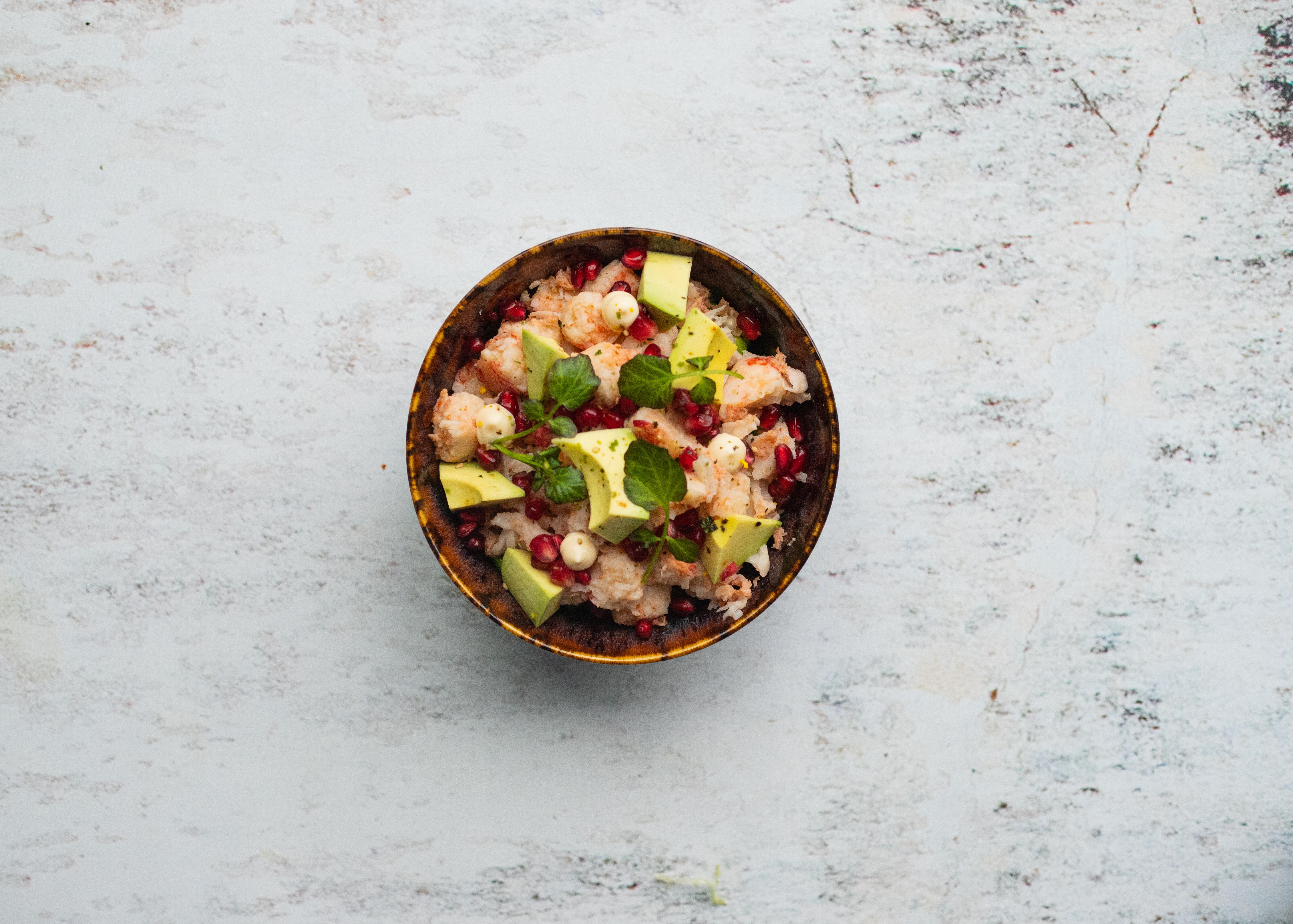 Salade kreeft quinoa