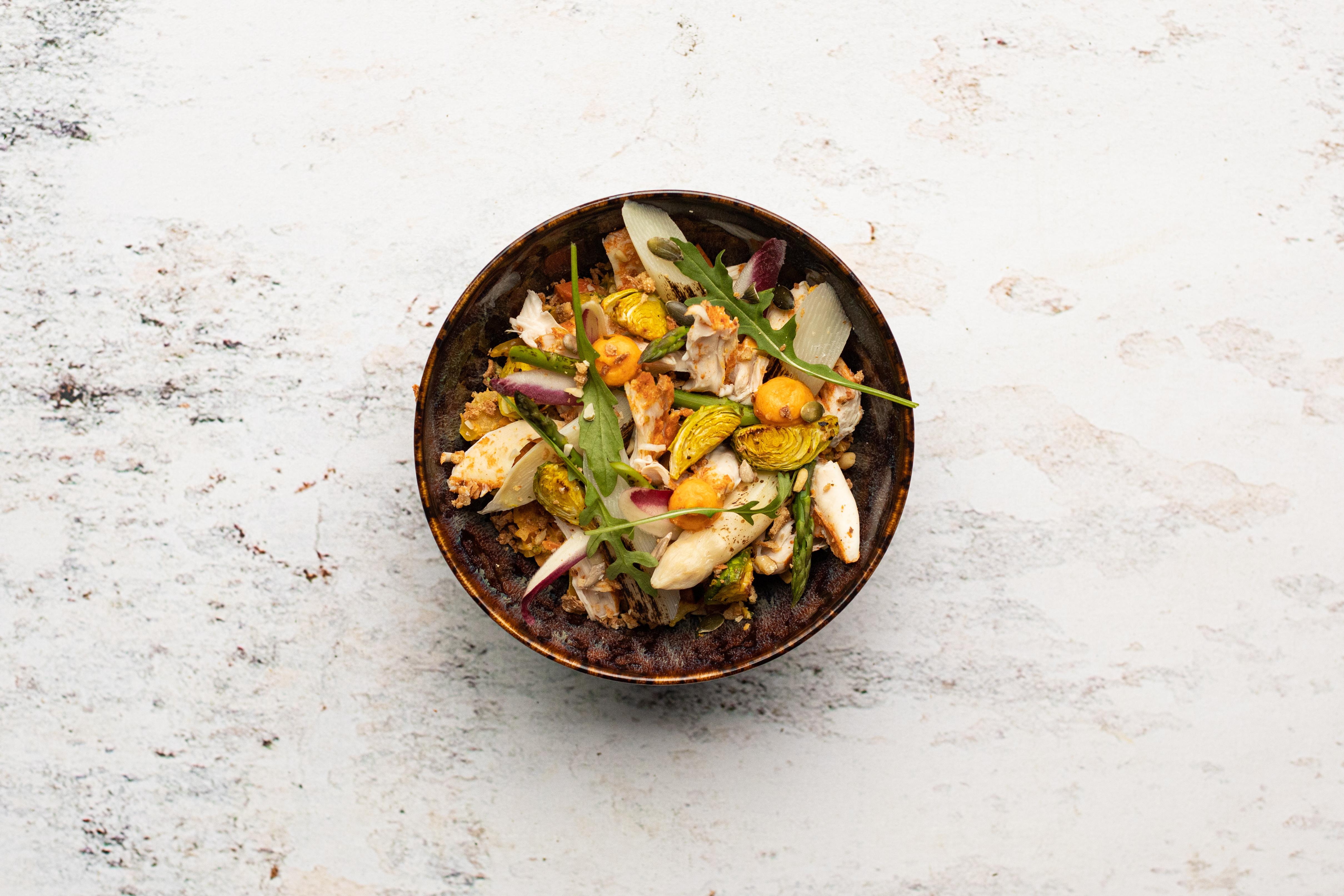Tandoori greens met gepofte groenten en kip