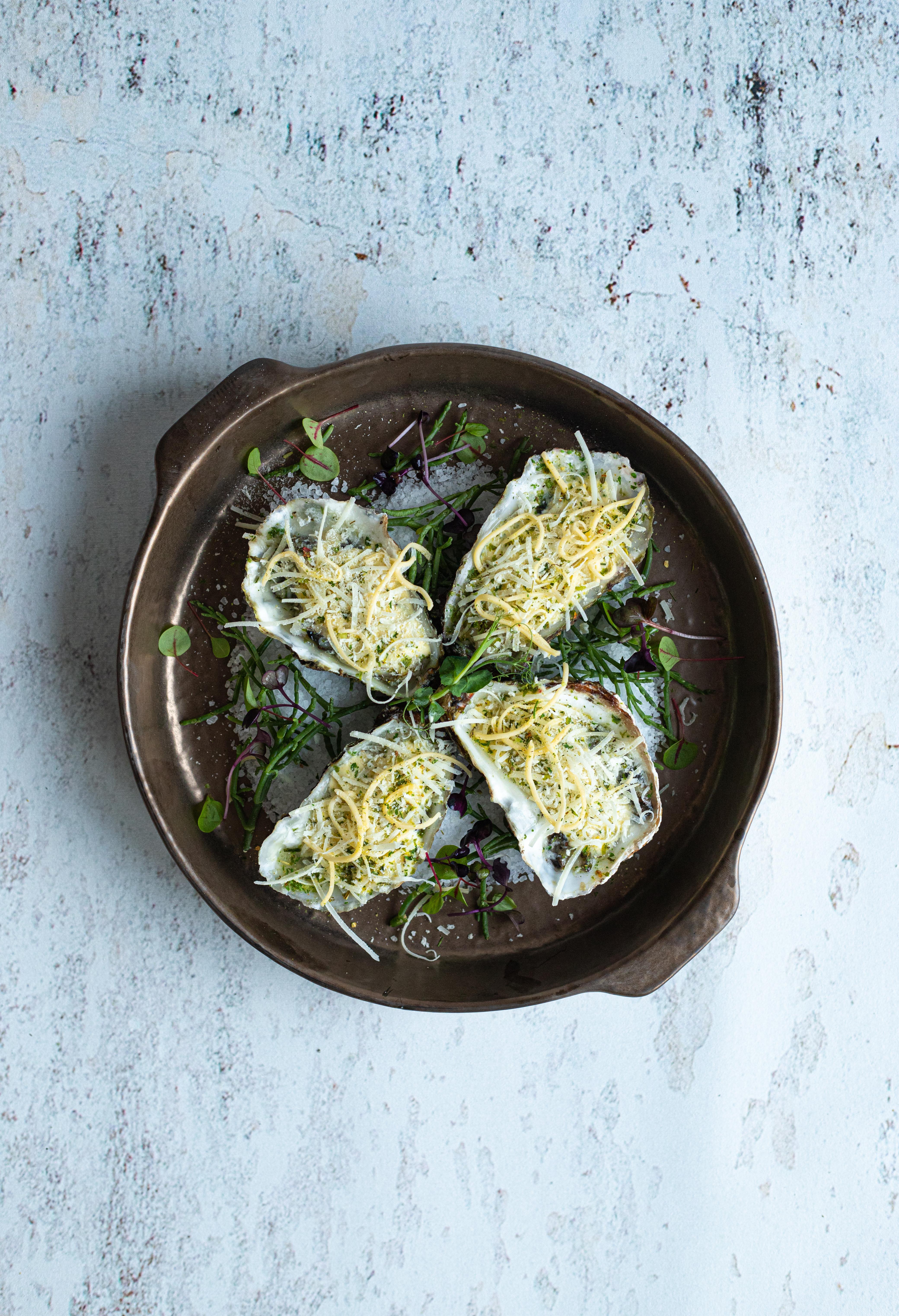 Gegratineerde oesters 4 stuks